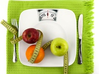 Placemat with fruit and scale